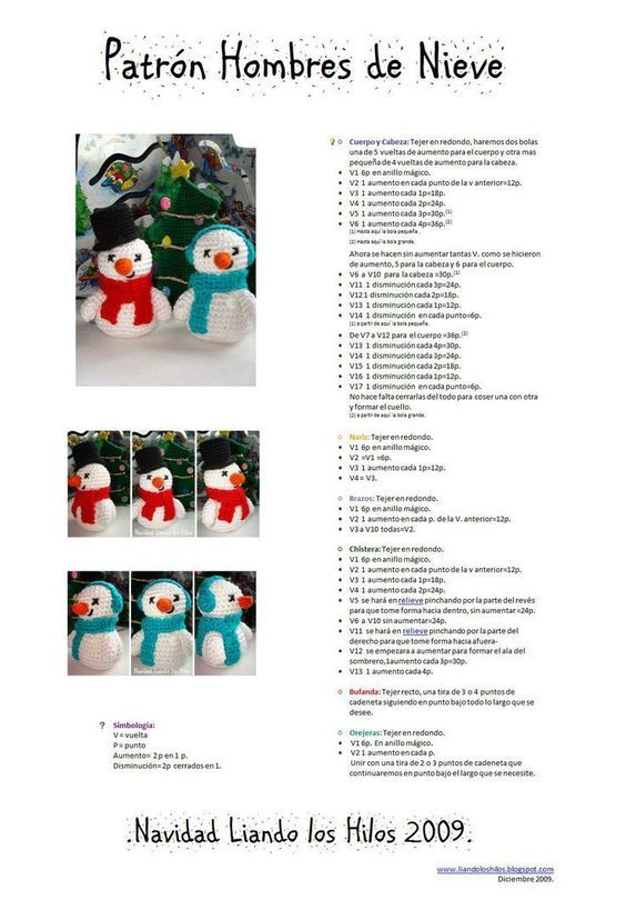 Patrones amigurumis navideños gratuitos | Amigurumi navideño ... | 819x564