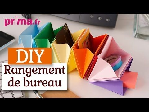 Faire un rangement de bureau en origami tuto diy for Bureau youtube