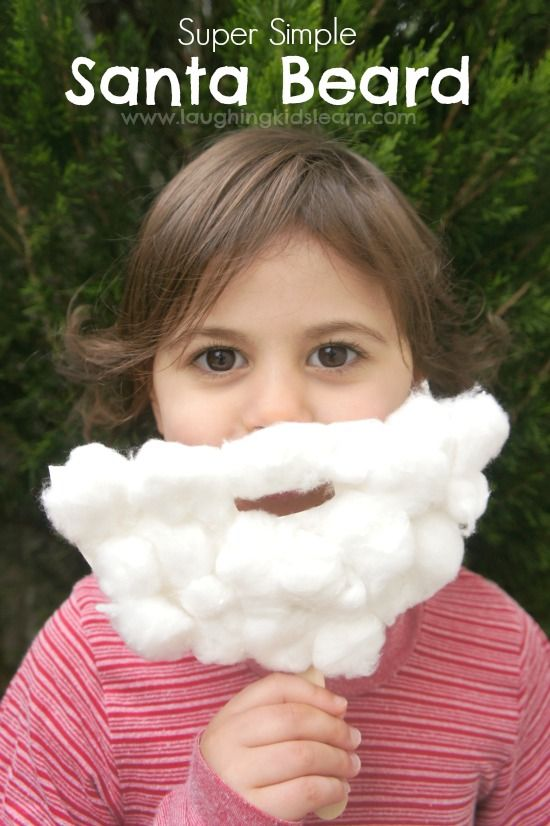 How to make a simple Christmas craft using paper plate as a Santa beard! | Laughing Kids Learn