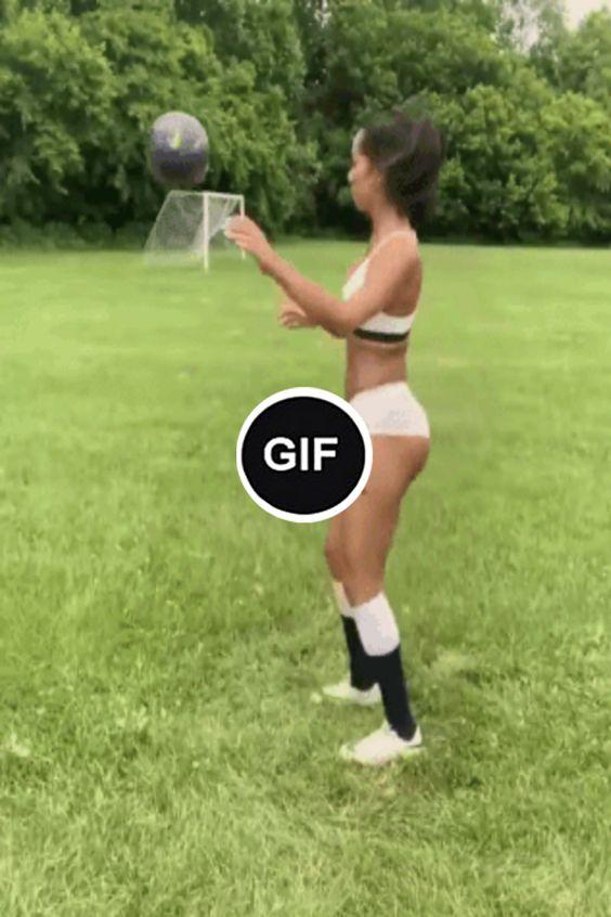 Garota sabe como lidar com a bola