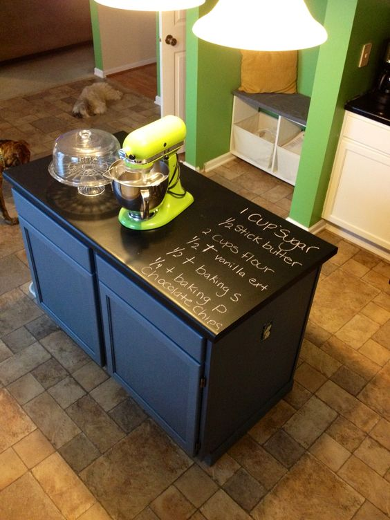 Countertop Chalkboard Paint : Countertops and Chalkboards on Pinterest