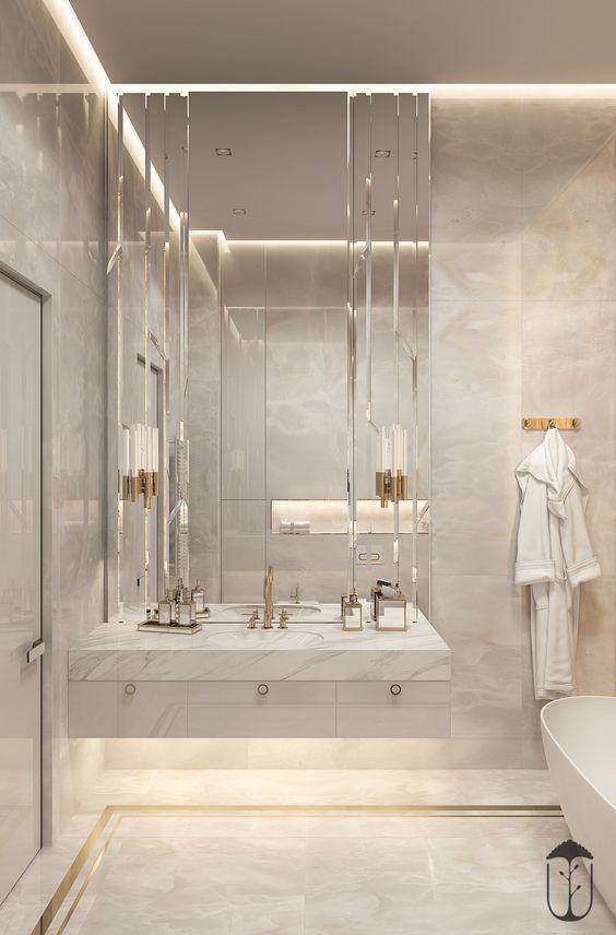 Bathroom Illumination Ideas For Every Single Style Design Bathroompaintcolors Bathroomdesignideas Ba Elegant Bathroom Luxury Bathroom Modern Bathroom Design