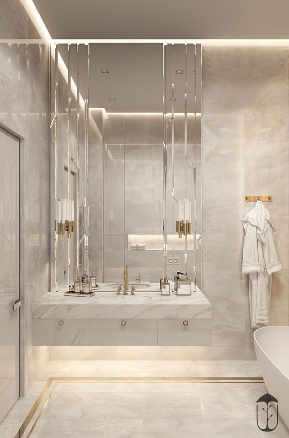 Bathroom Illumination Ideas For Every Single Style Design Bathroompaintcolors Bathroomdesignideas Bathroo Bathroom Interior Elegant Bathroom Luxury Bathroom