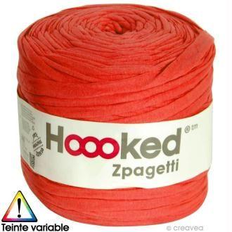 Zpagetti Hoooked Dmc Pelote Jersey Rouge 120 Metres Hoooked Zpagetti Hoooked Et Zpagetti