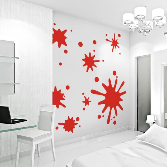 For Ian's Room Wallums.com Paint Splatter Wall Art Decals