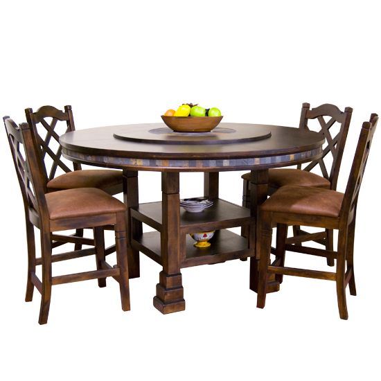 Round Kitchen Table, 60 Inch Round Dining Table With 6 Chairs Set