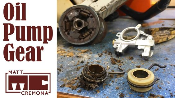 Chainsaw Oil Pump Gear Replacement