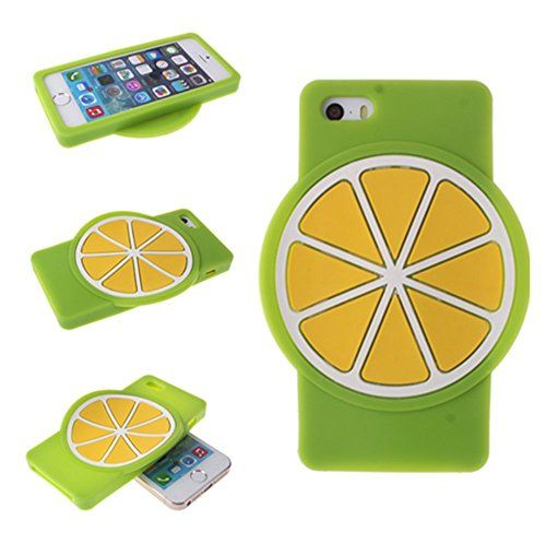 Big Dragonfly Gel Rubber Silicone Cute Candy Color Juicy Lemon Back Case Cover for Apple iPhone 5/iPhone 5S (Green) Big Dragonfly http://smile.amazon.com/dp/B00LF5EJQK/ref=cm_sw_r_pi_dp_RRz0tb1PTJGR9SV6
