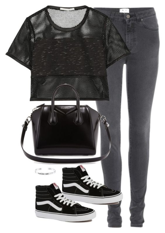 """""""Geen titel #3149"""" by chiara-rinaldi ❤ liked on Polyvore featuring Acne Studios, Jonathan Simkhai, Vans, Givenchy and Disney"""