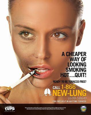 Diseño de cartel con cigarro