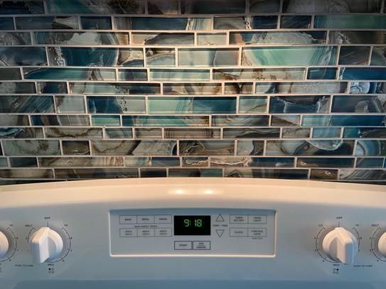 8mm glass mesh mounted mosaic tile