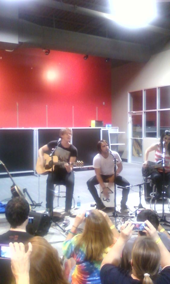 my pic of Sick Puppies in store performance Best Buy Fairview Heights IL 7.17.13