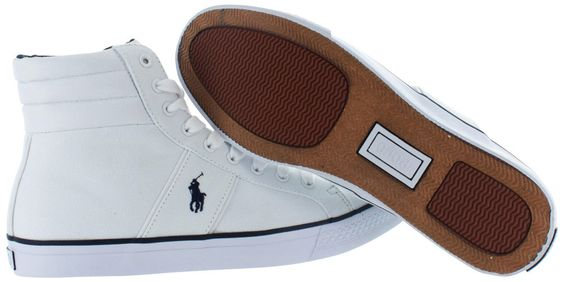 Polo Ralph Lauren Bawtry Men's Hightop Canvas Shoes