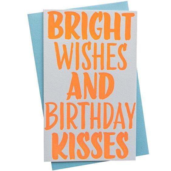 Bright Wishes Birthday Card