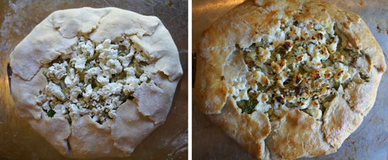 The Cottage Cook: Leek and Goat Cheese Galette
