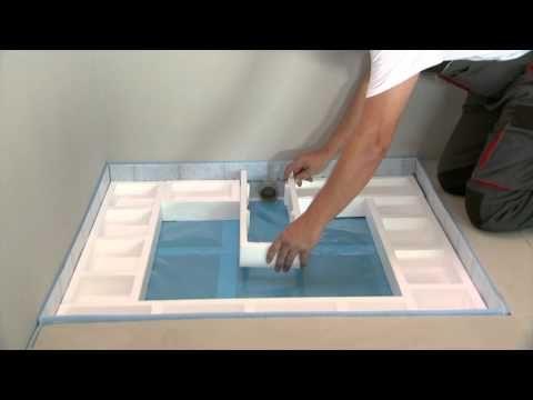 ▶ Montage Schallschutz Poresta bodenebene Dusche - YouTube