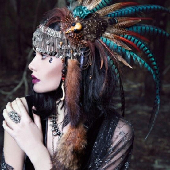 feather headdress via My Bohemian Style