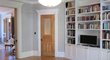 door natural, trim white