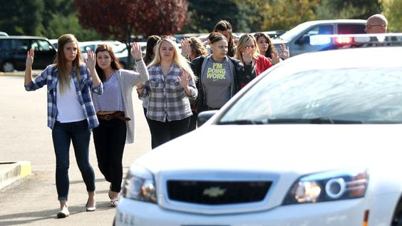 Community college is a DEFENSE FREE CAMPUS. No guns allowed. Except for a lone gunman. How convenient. At least 13 killed and 20 injured in Oregon community college shooting. Gunman dead. http://www.latimes.com/nation/la-na-nn-oregon-community-college-shooting-20151001-story.html