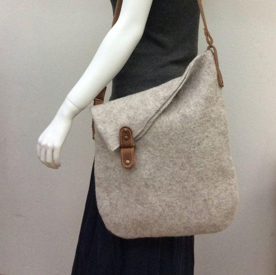 Felted handbag Asymmetry-2 by SquirrelFelt on Etsy