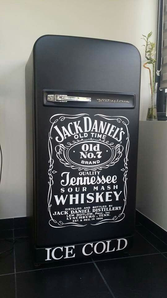 Frigo ancien frigidaire vintage fridge harley davidson for Meuble jack daniels