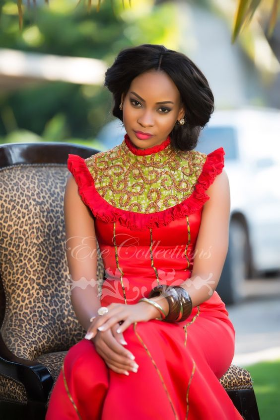African fashion, Lady in red and Tanzania on Pinterest