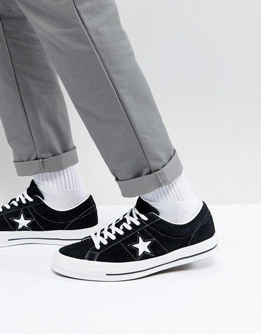 Converse Baskets One Star en daim noires