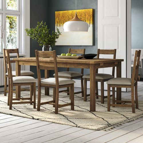 Union Rustic Extendable Dining Table With Chairs Narrow Dining