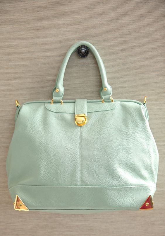 mint purse / ruche