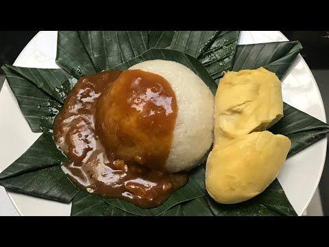 Resep Ketan Durian Dessert Lumer Di Mulut Kinca Durian Youtube Makanan Nasi Beras Ketan