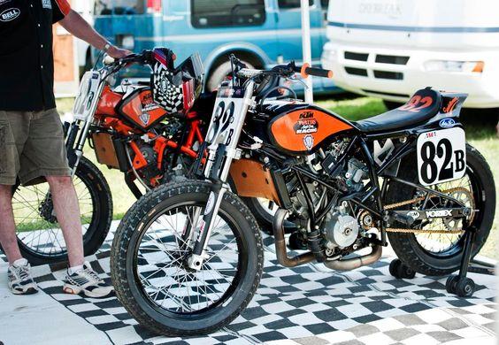 KTM flat tracker