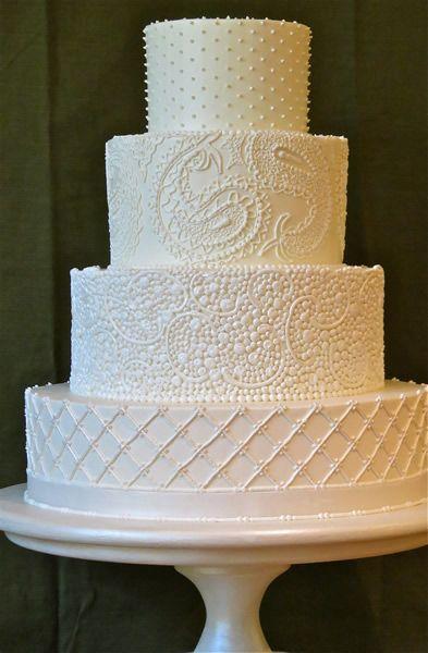White on white wedding cake decor by Jim Smeal