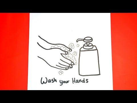 Cara Menggambar Cuci Tangan How To Draw Hand Washing Youtube Menggambar Tangan Mencuci Tangan Cara Menggambar
