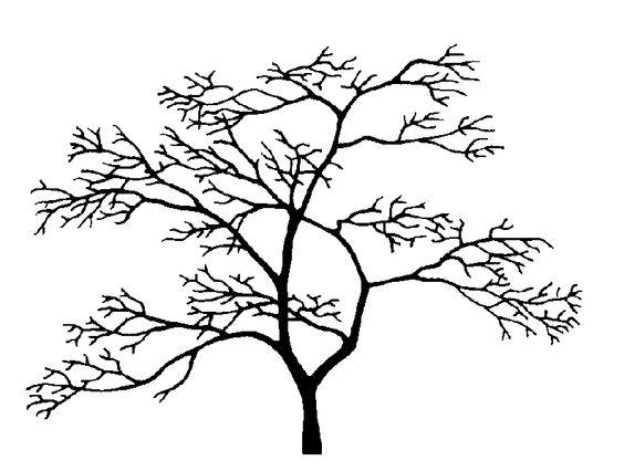 Arbre 2 fleurs feuilles arbres pinterest arbres for Pochoir arbre