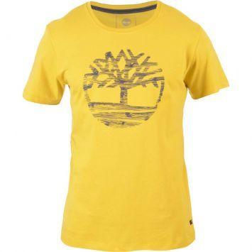 Timberland Logo   Camiseta Timberland Logo Tree - Amarelo   Kanui