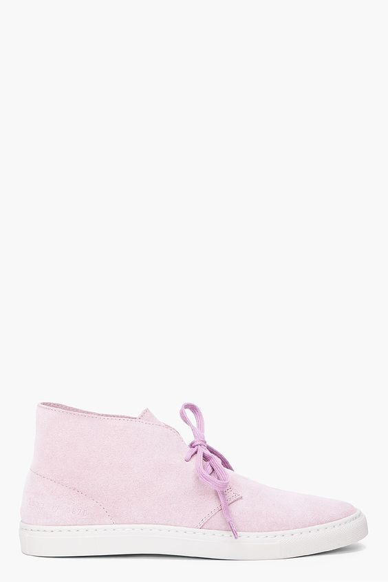 Common Projects Lavender Suede Chukkas