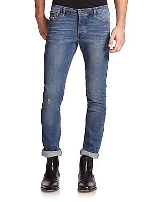 The Kooples Washed Denim Jeans - Light-Blue