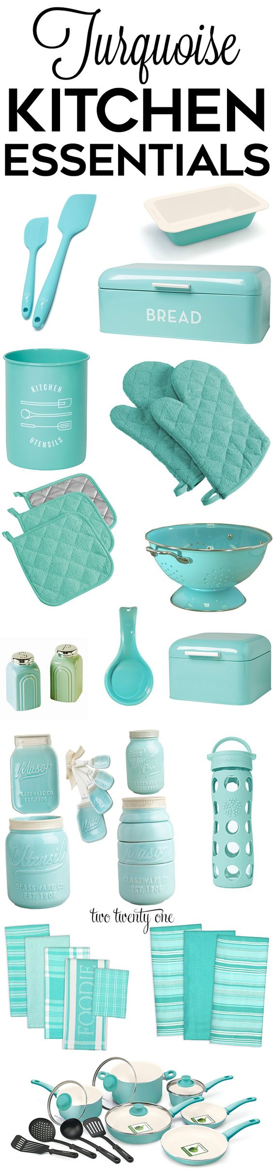 Looking for turquoise kitchen decor, appliances, and gadgets? Look no further! This is a comprehensive list of the best turquoise kitchen accessories!