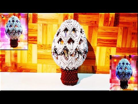 Origami Easter Egg Box Tutorial - Paper Kawaii - YouTube | 360x480