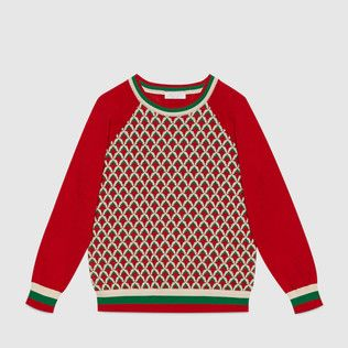 Gucci Cruise 2016 Children's patterned cotton sweater