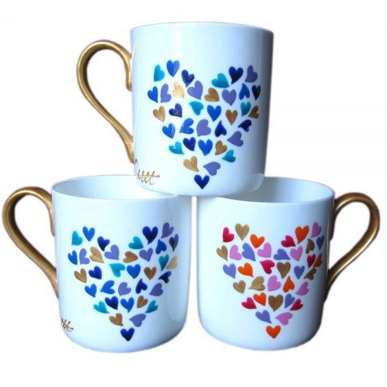 China mugs painted mugs and mugs on pinterest for How to paint a mug