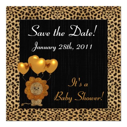 invitation cheetah print invitation des baby shower print personalized