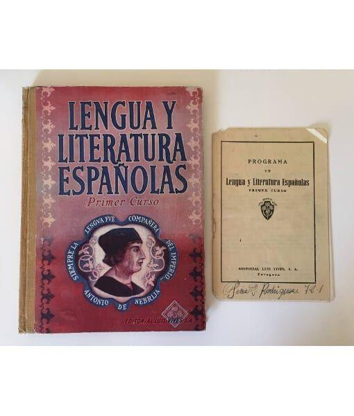 Lengua Y Literatura Españolas Primer Curso Comprar Libros De Segunda Mano Librería Llera Pacios Literatura Española Lengua Y Literatura Literatura