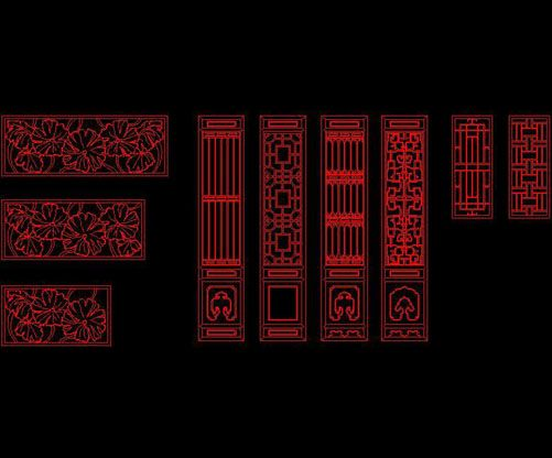 Ancient architecture doors windows wall patterns free for Window design autocad