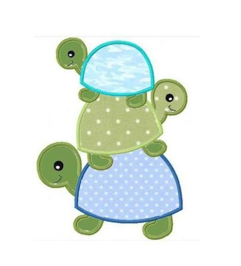 Machine embroidery appliques and turtles on pinterest