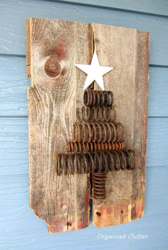 Industrial Spring Christmas Tree Tutorial www.organizedclutterqueen.blogspot.com