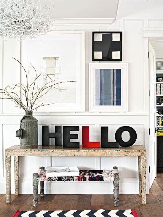 Create a memorable entryway - I love the HELLO!