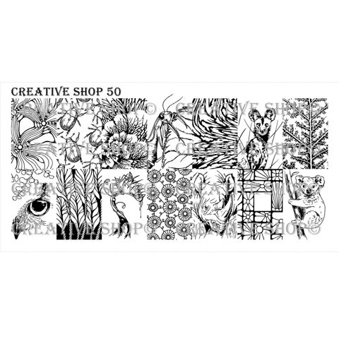 Creative Shop- Stamping Plate- 50