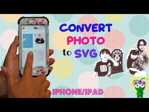 How To Convert Photo To Svg On Your Iphone Ipad Imaengine Cricut Design Space Youtube Cricut Cricut Design Photo To Line Drawing
