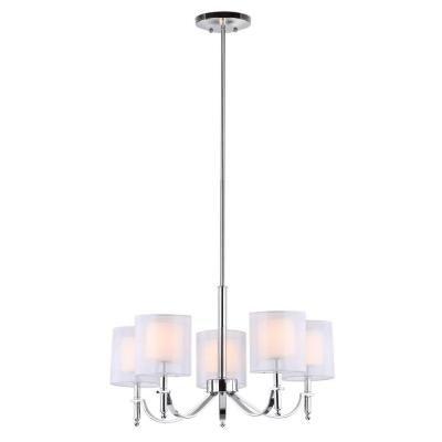 Safavieh Mika 5-Light Chrome Lamp-LIT4187A - The Home Depot